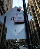 Street traffic sign. No stopping no standing tow zone traffic sign in downtown Chicago Royalty Free Stock Photos