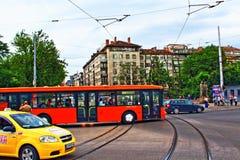 Street traffic Sofia Bulgaria Stock Images