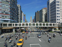 Street traffic in Taipei of Taiwan Stock Photography