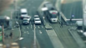 Street traffic time lapse stock footage