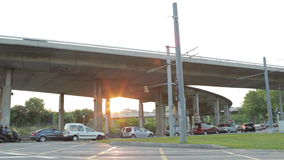 Street traffic timelapse at the sunset. Street traffic timelapse at sunset. Shot on Canon 5D Mark II with Prime L Lenses stock video