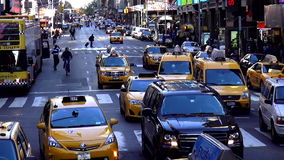Street traffic on Times Square New York USA cityscapes stock video footage