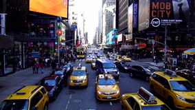 Street traffic on Times Square New York USA cityscapes stock video