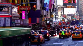 Street traffic on Times Square New York USA cityscapes stock footage
