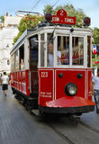 Street tram Istiklal Caddesi Istanbul Stock Photography