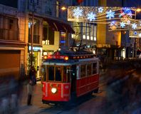 Street Tram on Istiklal street. Stock Photography