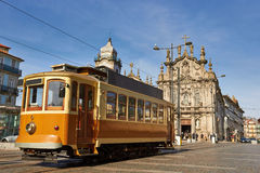 Street tram in Porto, Portugal Stock Photo