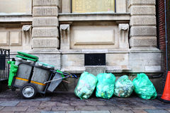 Street trash rubbish cart Royalty Free Stock Image
