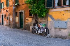Street in Trastevere, Rome, Italy Royalty Free Stock Image