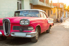 Street of Trinidad, Cuba. Old classic car Stock Image
