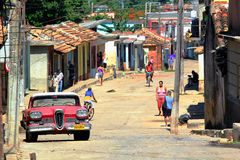 Street of Trinidad, Cuba Stock Images