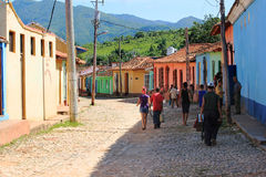 Street of Trinidad, Cuba Royalty Free Stock Photos