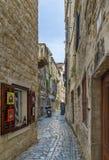 Street in Trogir, Croatia. Narrow street in Trogir old town, Croatia Royalty Free Stock Photos