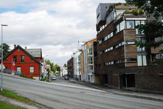 Street of Tromso. Stock Images