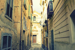Street in Tropea, Calabria, Italy Royalty Free Stock Photography
