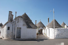 Street of Trulli in Puglia Royalty Free Stock Images