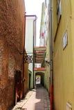 Street of Trutnov in the Czech Republic. Narrow street in Trutnov in the Czech Republic Royalty Free Stock Photo