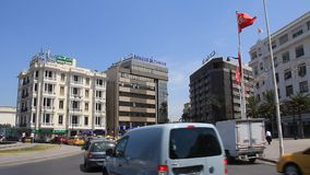 Street of Tunis, Tunisia. TUNISIA, TUNIS, JUNE 30, 2010: Main street of Tunis, Tunisia, June 30, 2010 stock video footage