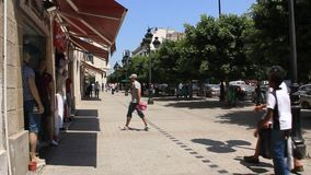 Street in Tunis, Tunisia stock video footage