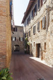 Street in tuscany Royalty Free Stock Photo