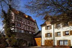 Cityscape of the town of Braunlingen Schwarzwald germany royalty free stock photos