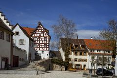 Cityscape of the town of Braunlingen Schwarzwald germany stock images