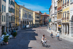 Street of Udine, Friuli Venezia Giulia, August of 2013, Italy Royalty Free Stock Image