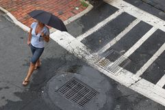 Street Umbrella Stock Image