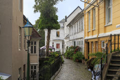 Street in the upland area of Bergen Royalty Free Stock Photos