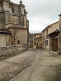Street of Urueña with church Stock Photo