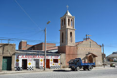Street of Uyuni, Bolivia Stock Images