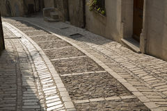 Street in Uzes, Provence, France. Street in Uzes in Provence, France, Europe Royalty Free Stock Images