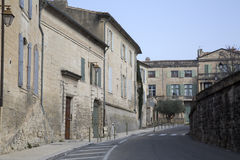 Street in Uzes; Provence; France. Europe Stock Photos