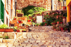 Street in Valldemossa village Royalty Free Stock Photography