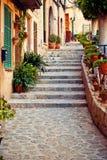 Street in Valldemossa village in Mallorca. Spain Royalty Free Stock Photography