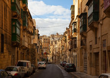 Street  of Valletta. Malta Royalty Free Stock Images