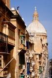 Street in Valletta, Malta stock photo