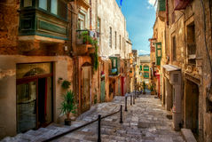 Street of Valletta town Royalty Free Stock Photography