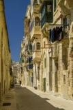 Street of valletta Stock Image