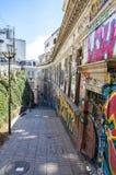 The street of Valparaiso, Chile Royalty Free Stock Photos
