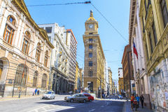 The street of Valparaiso, Chile Stock Photos