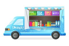Free Street Van, Shop Truck Counter On Wheels, Stall, Sale Drinks. Royalty Free Stock Images - 138975589