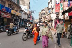 On the street in Varanasi Royalty Free Stock Photography