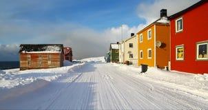 Street of Vardo in northern Norway Stock Photo