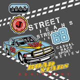 Street 68. Vector illustration for children clothes Stock Images