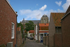 Street in Veere Stock Photography