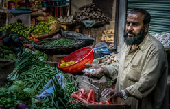 Street vegetable seller Royalty Free Stock Photos