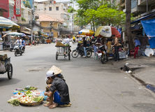 Street Vegetable Vendors Royalty Free Stock Photos