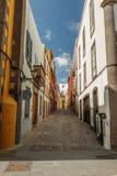 Street. Vegueta neighborhood. Las Palmas de Gran Canaria. The Canary Islands. Spain Royalty Free Stock Images