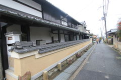 Street veiw in Kyoto Japan Royalty Free Stock Photos
